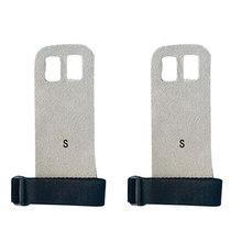 1 пара S M L рукоятка Синтетическая кожа Кроссфит гимнастическая защита ладоней перчатки для поднятия веса(China)