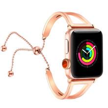 Женский ремешок для Apple watch 38 мм/42 мм iWatch ремешок 40 мм/44 мм из нержавеющей стали ремешок для часов Apple watch series 5 4 3 2 1 браслет(Китай)