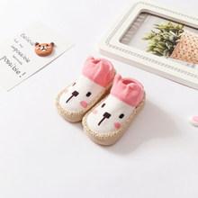 2019 милая детская обувь для мальчика обувь для первых шагов Мультфильмы для новорожденных животных постельные туфли для новорожденных неск...(China)