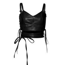 Kliou женские модные однотонные облегающие укороченные топы на бретельках 2020 без рукавов, повседневные сексуальные уличные повязки на бретел...(Китай)