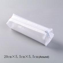 Kawaii вместительные сумки для ручек прозрачный Сетчатый Чехол-карандаш милые сумки-карандаши для девочек подарок школьные принадлежности ко...(Китай)