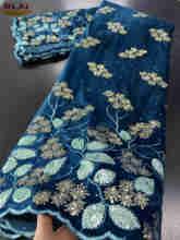 Кружевная ткань NIAI, Вельветовая кружевная ткань в африканском стиле, 2020, высокое качество, кружевная сетка в нигерийском стиле для свадебно...(Китай)