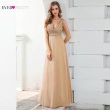 Сексуальные синие вечерние платья Ever Pretty EP00785DB с глубоким v-образным вырезом, блестками, без рукавов, блестящие вечерние платья(Китай)