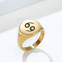 EDGY модное круглое мизиновое кольцо с гравировкой, оригинальное кольцо, персонализированное гравированное кольцо с печатью для мужчин или ж...(Китай)