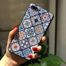 Для huawei Honor 5C Чехол 3D тиснение цветок чехол для телефона чехол из термополиуретана и силикона для huawei Honor 6A 6X 7x 6C PRO P Smart Plus черный ТПУ(Китай)