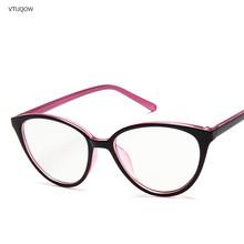 Новинка Ретро кошачий глаз женские очки оправа анти синий светильник женские очки в оправе при близорукости винтажные прозрачные очки Опти...(Китай)