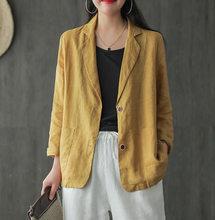 Женский пиджак с длинным рукавом, весна 2020, Повседневная мода, однотонный, тонкий, рабочий, офисный, женский, офисный, Блейзер, топы и блузки(Китай)