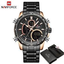 NAVIFORCE мужской роскошный бренд часов, цифровые спортивные часы, мужские кварцевые наручные часы, светящиеся водонепроницаемые часы(Китай)