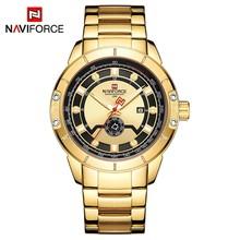 NAVIFORCE Роскошные брендовые наручные часы мужские модные деловые Часы повседневные спортивные водонепроницаемые золотые часы мужские часы ...(Китай)