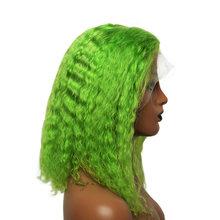 Блонд цветной 13х6 кудрявый парик на фронте 613 оранжевый прозрачный синий короткий Боб человеческие волосы парики бразильский парик 150% Remy(Китай)