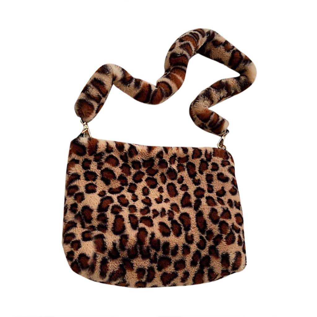 И 35 сумки через плечо для женщин, женские леопардовые винтажные плюшевые сумки, осенняя и зимняя модная сумка через плечо, сумка через плечо(Китай)