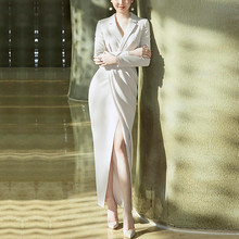 Женский блейзер с длинным рукавом, Дизайнерский Модный элегантный пиджак высокого качества, одежда для улицы(Китай)
