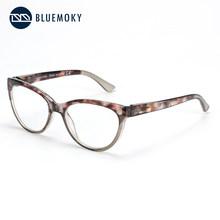 BLUEMOKY TR90 кошачий глаз очки для чтения с анти-синий светильник для женщин модные пресбиопические компьютерные оптические очки(China)