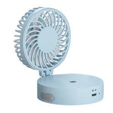Мини вентилятор USB портативный увлажнитель воздуха для дома и автомобиля диффузор очиститель распылитель 2 в 1 Функция увлажнитель Вентилят...(Китай)