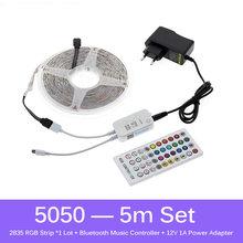 10 м, 15 м, 20 м, RGB сменный светодиодный светильник, DC12V, 2835, 5050, светодиодный светильник, лента, Bluetooth, музыкальный контроллер + адаптер питания(Китай)