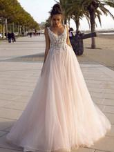LORIE свадебное платье принцессы 2020 V-образным вырезом платье для невесты без спинки 3D Аппликации Свадебные платья(China)