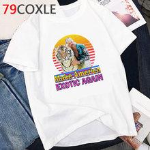 Мужская футболка с изображением тигра и короля из мультфильма Joe Exotic, летняя футболка с героями мультфильмов, забавная футболка с изображен...(Китай)