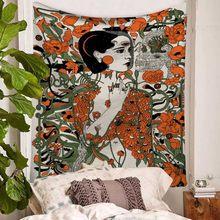 Психоделический сексуальный женский гобелен, секретный Коврик для йоги в джунглях, домашний декор, настенный ковер для спальни, гостиной, г...(Китай)