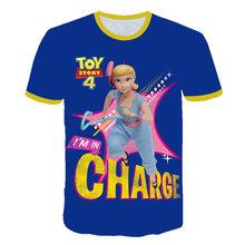 2020 детская одежда, 3D мультфильм История Игрушек 4, Детская футболка, летняя детская мода, мальчики и девочки, веселые топы с короткими рукава...(Китай)
