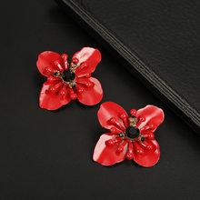 Серьги-гвоздики для женщин, корейский стиль, жемчужные металлические милые цветные серьги для девушек, ювелирные изделия, подарок, аксессуа...(Китай)