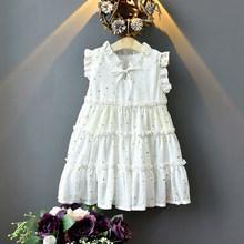 Летнее кружевное Сетчатое платье-пачка принцессы с цветочным рисунком для маленьких девочек детское Открытое платье на свадьбу, крестины, ...(China)