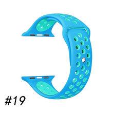 Спортивный мягкий ремешок для часов apple watch 5 4 3 42 мм 44 мм Nike силиконовый ремешок для часов apple watch ремешок для iwatch дышащий 38 мм 40 мм(Китай)