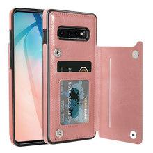 Кожаный чехол KISSCASE для Samsung A50, чехол с отделениями для карт, чехол для Samsung S10 Plus, S8, 9, 7, Note 10 Plus, A40, A70, чехол(Китай)