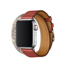 Кожаный ремешок для часов Apple Watch 5, 4, 40, 44 мм, ремешок для iWatch 38, 42 мм, 3, 2, 1(Китай)