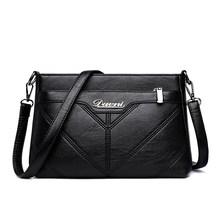 Модная женская сумка на плечо, дизайнерская женская сумка-мессенджер из искусственной кожи, брендовая Сумка-тоут с клапаном, женская сумка, ...(Китай)