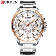 Часы CURREN Мужские, кварцевые, спортивные, деловые, из нержавеющей стали(Китай)