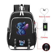 USB Charing Mochila стежка сумки школьный портфель с анимэ дорожный стежок рюкзаки школьные сумки для девочек подростков Sac Dos рюкзак для ноутбука(Китай)