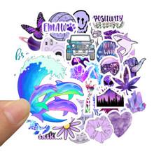 50 шт. Мультяшные фиолетовые INS стильные Vsco наклейки для девочек s для ноутбука мото скейтборд багаж холодильник ноутбук игрушечный Ноутбук н...(Китай)