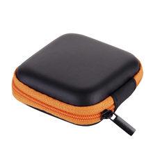 20 # Мини-молния Жесткий кожаный чехол для хранения наушников сумка для наушников коробка мини-молния Жесткий чехол для наушников Usb кабель О...(Китай)