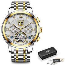 2020 LIGE мужские часы Лидирующий бренд Роскошные автоматические механические часы мужские водонепроницаемые полностью стальные деловые часы...(Китай)