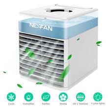 Кондиционер NexFan UV-C портативный воздушный охладитель ультра испарительный кондиционер увлажнитель очиститель USB Настольный вентилятор(Китай)