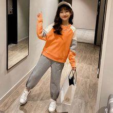 Спортивный комплект для девочек; Одежда в стиле пэчворк для девочек; Толстовка + штаны; Комплект одежды для девочек-подростков; Детская одеж...(Китай)
