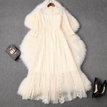 Весна 2020 Новое высококачественное женское платье с вышивкой из марли, сексуальные кружевные вечерние платья знаменитостей, летние винтажн...(Китай)