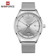 NAVIFORCE роскошные часы для мужчин и женщин, люксовый бренд, водонепроницаемые часы из нержавеющей стали, модный кварцевый подарок, наручные ча...(Китай)
