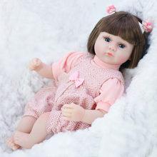 42 см силиконовая кукла-Реборн, имитирующая ребенка, куклы-Реборн, мягкие игрушки для малышей, игрушки для девочек, детские подарки на день ро...(Китай)