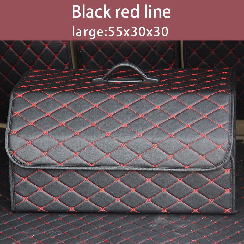 Складной автомобильный Органайзер из искусственной кожи с крышкой для багажника, портативный автомобильный ящик для хранения, сумки в бага...(Китай)