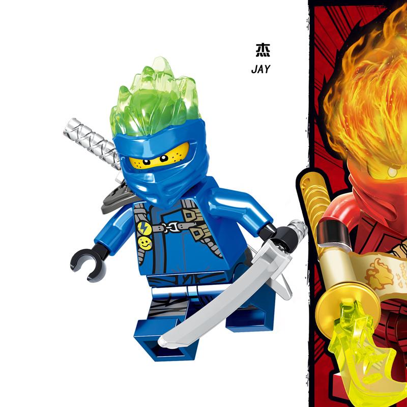 2019 совместим с LegoINGlys NinjagoING наборы герои ниндзя фигурки Kai, jay, Cole Zane Nya Lloyd с оружием экшн-игрушки для детей(Китай)