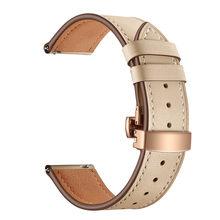 20 мм/22 мм роскошный браслет из натуральной кожи для samsung Galaxy Watch 46 мм/42 мм/Active 2 1 ремешок для часов gear S3 наручный ремень(Китай)