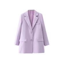 Женские блейзеры и куртки, офисный винтажный Модный женский костюм, осенний однобортный Повседневный Однотонный женский Блейзер, женская в...(Китай)