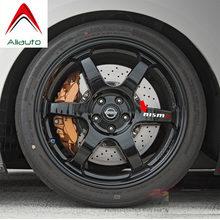 Aliauto 4 X Nismo автомобильные шины и обода наклейка аксессуары ПВХ для Nissan Tiida Sunny Qashqai MarchTeana X-trai 10 см * 2 см(Китай)