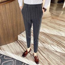 Мужские деловые брюки в полоску, классические брюки в английском стиле на весну 2020(Китай)