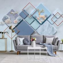 Нордическая настенная 3D Бумага для гостиной, спальни, фона, шелковая ткань, геометрический узор, настенная бумага, домашний декор(Китай)