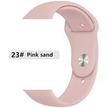 Мягкая силиконовая лента для Apple watch 5 4 3 2 1 полоса 42 мм 38 мм сменный Браслет ремешок для часов 44 мм для iwatch 4 3 2 1 40 мм(Китай)