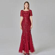 Модные платья подружки невесты с круглым вырезом и аппликацией из тюля, простые бордовые платья длиной до пола с коротким рукавом 2020 для сва...(Китай)