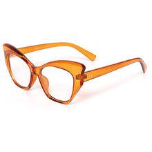 SO & EI модные очки кошачий глаз конфетного цвета для женщин очки для ногтей оправа Ins популярные прозрачные линзы очки мужские Оптические очк...(Китай)