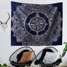 Мандала с часами-компасом в богемном стиле гобелен пляжное полотенце набор диванов скатерть постельное белье коврики для пикника 10 моделей...(Китай)